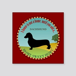 "Dachshund [smooth] Square Sticker 3"" x 3"""